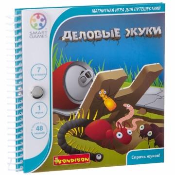 """Магнитная игра Bondibon для путешествий """"Деловые жуки"""""""