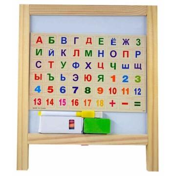 Мольберт деревянный с азбукой