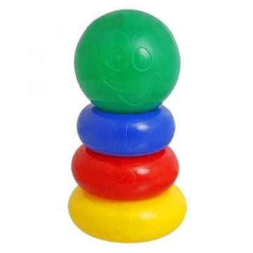 Пирамидка 3 кольца с шаром