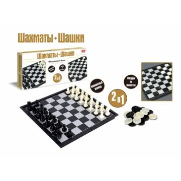 """Настольная игра """"Шашки и шахматы"""", 2 в 1"""
