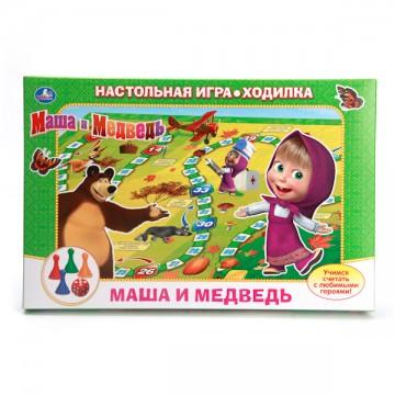 """Настольная игра-ходилка """"Маша и медведь"""""""
