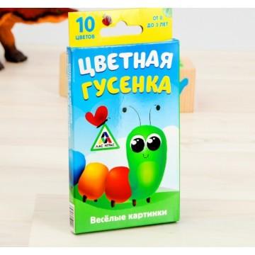 """Игра развивающая """"Цветная гусенка"""""""