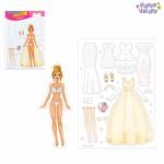 Магнитная игра «Одень куклу: невеста»