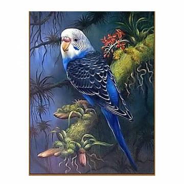 """Алмазная мозаика """"Волнистый попугайчик в тропиках"""""""