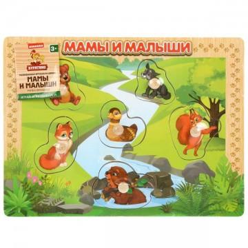 """Вкладыши """"Животные. Мамы и малыши"""""""