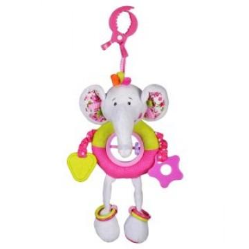 """Подвеска с прорезывателями и погремушками """"Слонёнок Тим"""""""